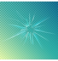 Cracked or broken shattered glass mirror vector image