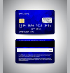 credit cards set with colorful blue design vector image