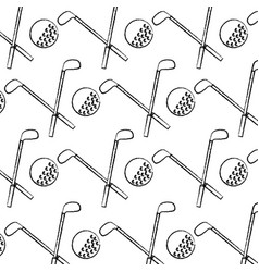 crossed clubs and ball golf icon image vector image