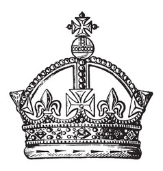 Crown have unique design vintage engraving vector