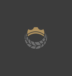 crown tire logotype auto tyre cogweel king vector image