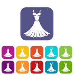 Dress icons set vector
