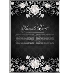 elegance floral background vector image