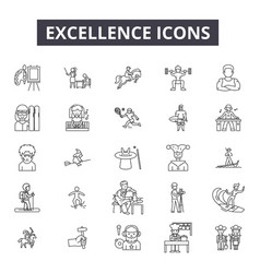 Excellence line icons for web and mobile design vector