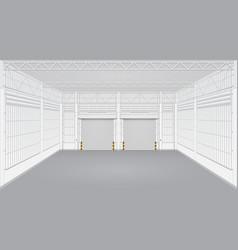 factory empty vector image
