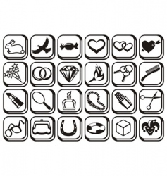 fashion symbols vector image