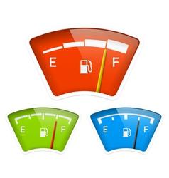 Fuel indicator vector image