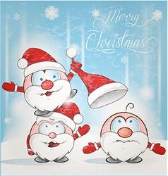 Fun santa claus cartoon vector
