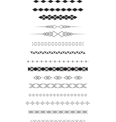geometric text dividers vector image