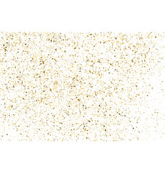 Gold frame glitter texture isolated on white vector