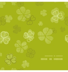 green clover textile texture frame corner pattern vector image vector image