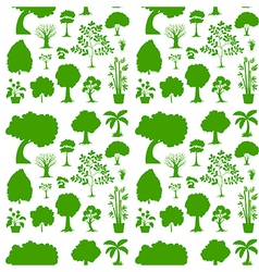 Green seamless template vector
