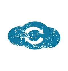 Grunge cloud exchange icon vector image