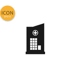hospital icon isolated flat style vector image