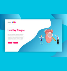 human tongue health doctor treatment concept for vector image