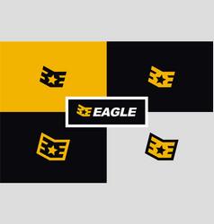 initial e eagle military rank wings logo vector image