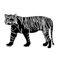 Isolated tiger silhouette vector