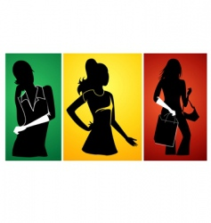 Ladies silhouette vector