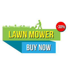 Lawn mover sale banner vector
