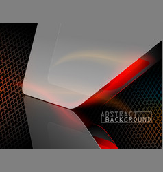 Metal net shape scene vector