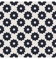 Monochrome geometric seamless pattern vector image