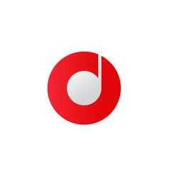 music icon disc symbol flat vector image