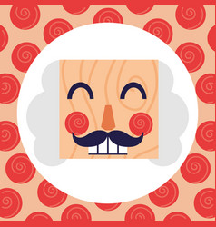 nutcracker face icon vector image