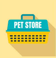 pet store basket logo flat style vector image