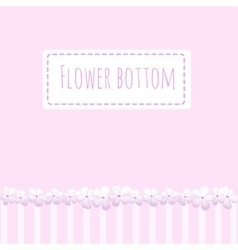 Pink background with flowers fence vector