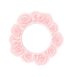 pink rose banner wreath vector image