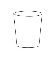 Plastic cup empty utensil icon vector