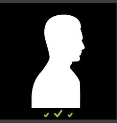 profile side view portrait it is white icon vector image