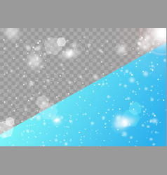 realistic snowfall transparent background vector image