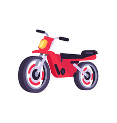 red motorbike stylish motor scooter transport item vector image