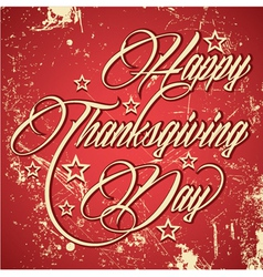 Retro design for Happy Thanksgiving Day vector