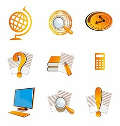 School and Education Icons Symbol vector image