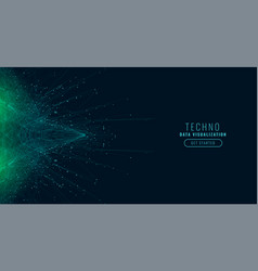 Science digital big data technology background vector