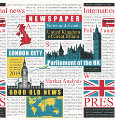 seamless background on theme uk and london vector image