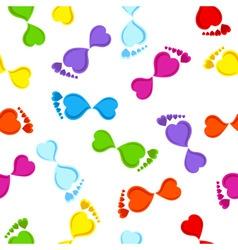 Seamless footprints vector