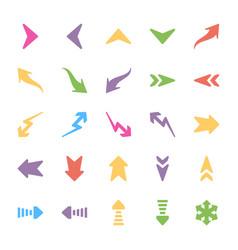 set of arrows flat vector image