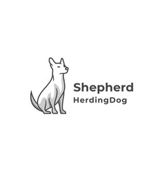 shepherd dog logo - silhouette vector image