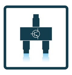 Smd transistor icon vector image