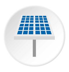 Solar battery icon circle vector