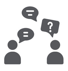 speaking people glyph icon chat and talking vector image