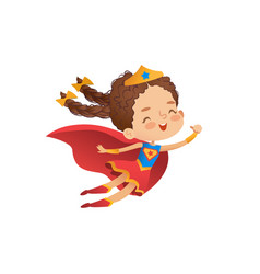 superheroine cute girl costume vector image