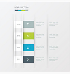 timeline design design green blue gray color vector image