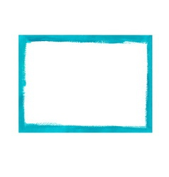 Turquoise grunge frame vector