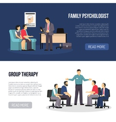 Two Psychologist Banners vector image