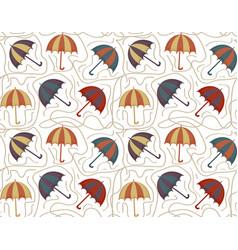 umbrellas seamless pattern autumn endless vector image