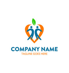 Unique childcare logo vector